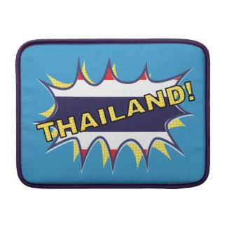 """Starburst de KAPOW de la bandera tailandesa """" Fundas Macbook Air"""