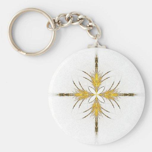 Starburst de oro llavero personalizado