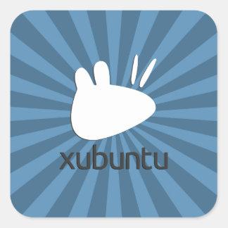 Starburst del trullo de Xubuntu Pegatina Cuadrada