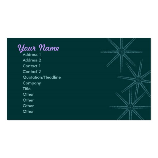 Starburst Double-Sided Standard Business Cards (Pack Of 100)
