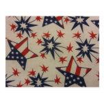 Starburst en rojo, blanco y azul postal