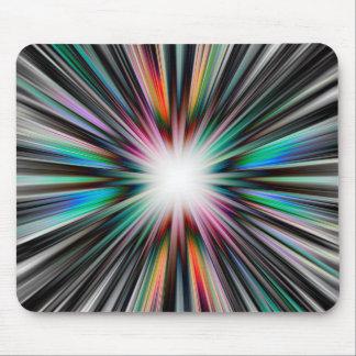 Starburst explosion pattern mouse pad