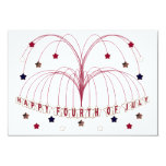 Starburst Fountain Fourth of July RSVP Card