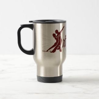 Starburst Full Logo - Dark Red 15 Oz Stainless Steel Travel Mug