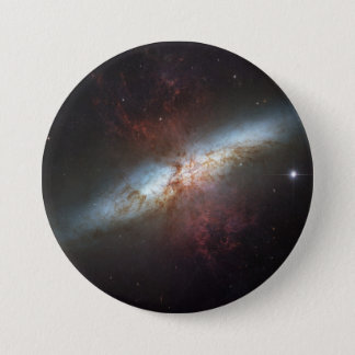 Starburst Galaxy M82 Pinback Button