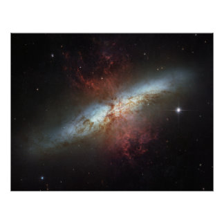 Starburst galaxy M82 Posters