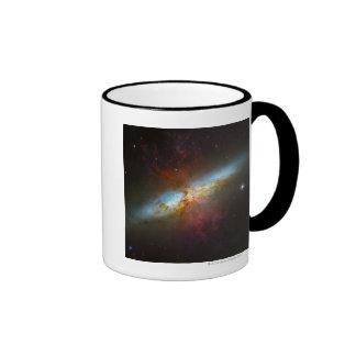 Starburst Galaxy M82 Ringer Mug