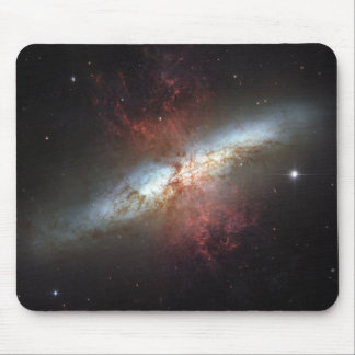 Starburst galaxy, Messier 82 Mouse Pad
