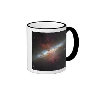 Starburst galaxy, Messier 82 Ringer Mug
