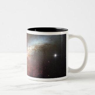 Starburst galaxy, Messier 82 Two-Tone Coffee Mug