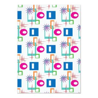 Starburst Geometric Multicolored Pattern Custom Invites