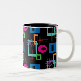 Starburst Geometric Multicolored Pattern Mugs