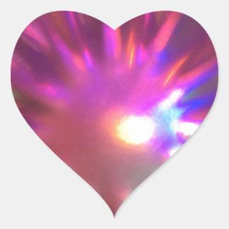 Starburst Heart Sticker