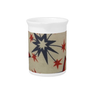 Starburst in Red, White & Blue Beverage Pitcher