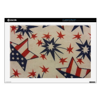 Starburst in Red, White & Blue Laptop Skin