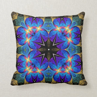 Starburst Kaleidoscope Design Pillow