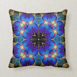 Starburst Kaleidoscope Design Throw Pillow