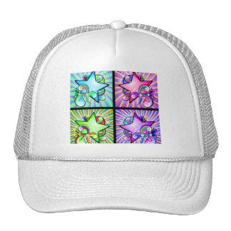 Starburst Kaleidoscope Of Rainbow Colors Mesh Hats
