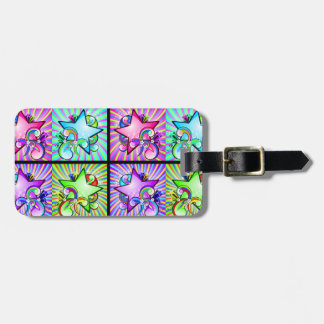 Starburst Kaleidoscope Of Rainbow Colors Tags For Luggage
