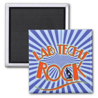 STARBURST LAB TECHS ROCK (LABORATORY SCIENTIST) 2 INCH SQUARE MAGNET