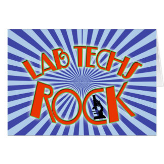 STARBURST LAB TECHS ROCK (LABORATORY SCIENTIST) GREETING CARDS