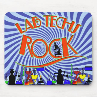 STARBURST LAB TECHS ROCK (LABORATORY SCIENTIST) MOUSE PAD