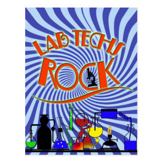 STARBURST LAB TECHS ROCK (LABORATORY SCIENTIST) POSTCARD