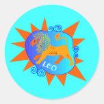 Starburst Leo Classic Round Sticker