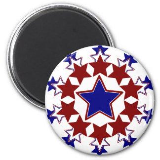 Starburst 2 Inch Round Magnet