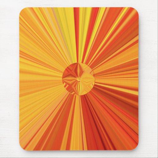 Starburst Mousepad en rojos y naranjas Tapete De Raton