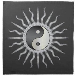 Starburst negro Yin Yang Servilletas Imprimidas