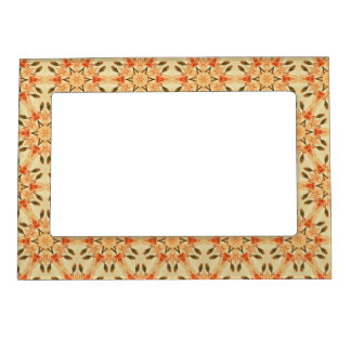 Starburst Peach Abstract Pattern Magnetic Frame