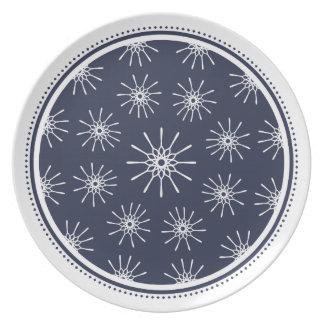 Starburst Plate - Midnight Blue