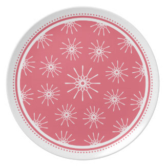 Starburst Plate - Raspberry Pink