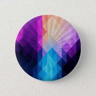 Starburst Purple & Blue Diamond Design Button