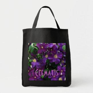 Starburst Purple Clematis Tote Bag