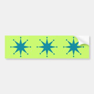 Starburst retro pegatina de parachoque
