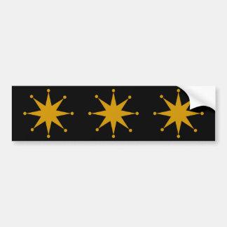 Starburst retro etiqueta de parachoque