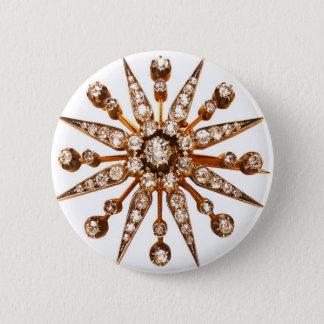 Starburst Rhinestone Vintage Costume Jewelry Button