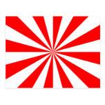 Starburst rojo y blanco postal