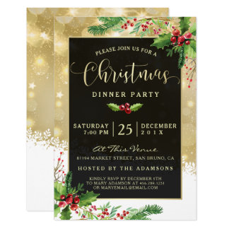 Starburst Snowflakes | Christmas Party Invitation