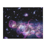 Starburst Stellar Fireworks Finale Outer Space Stretched Canvas Print
