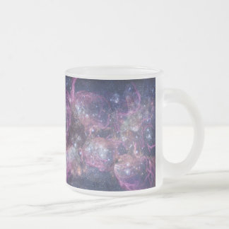 Starburst Stellar Fireworks Finale Outer Space Frosted Glass Coffee Mug