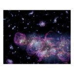 Starburst Stellar Fireworks Finale Outer Space Posters