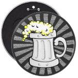Starburst Sunrays Mug of Beer. Pins