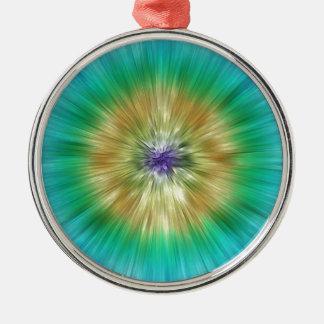 Starburst Tie Dye Metal Ornament