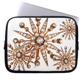 Starburst Vintage Costume Jewelry Laptop Sleeve