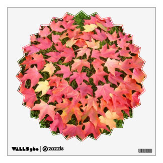 Starburst wall decal Red Autumn Leaves Green Lawn