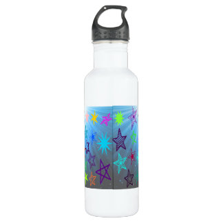 Starburst With Glowing Star Background Water Bottle