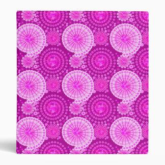 Starbursts and pinwheels, amethyst purple binder